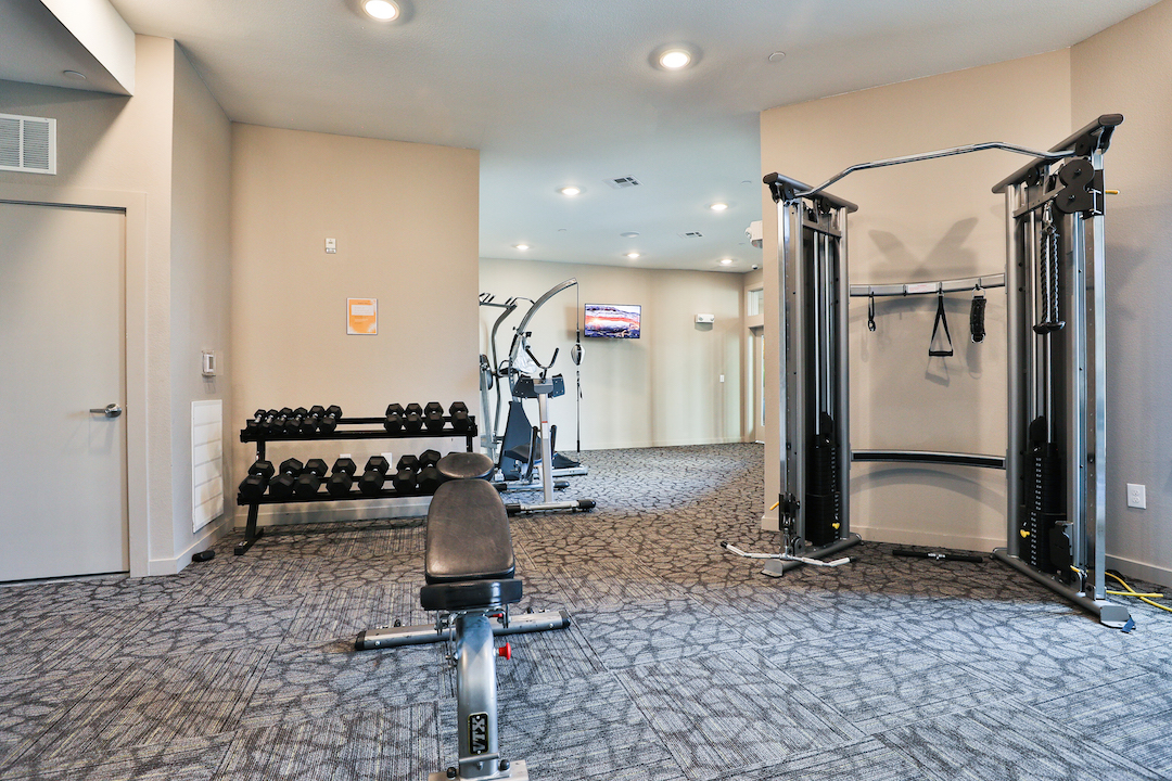 Fitness Center At Haven at Main Apartments In Houston, TX