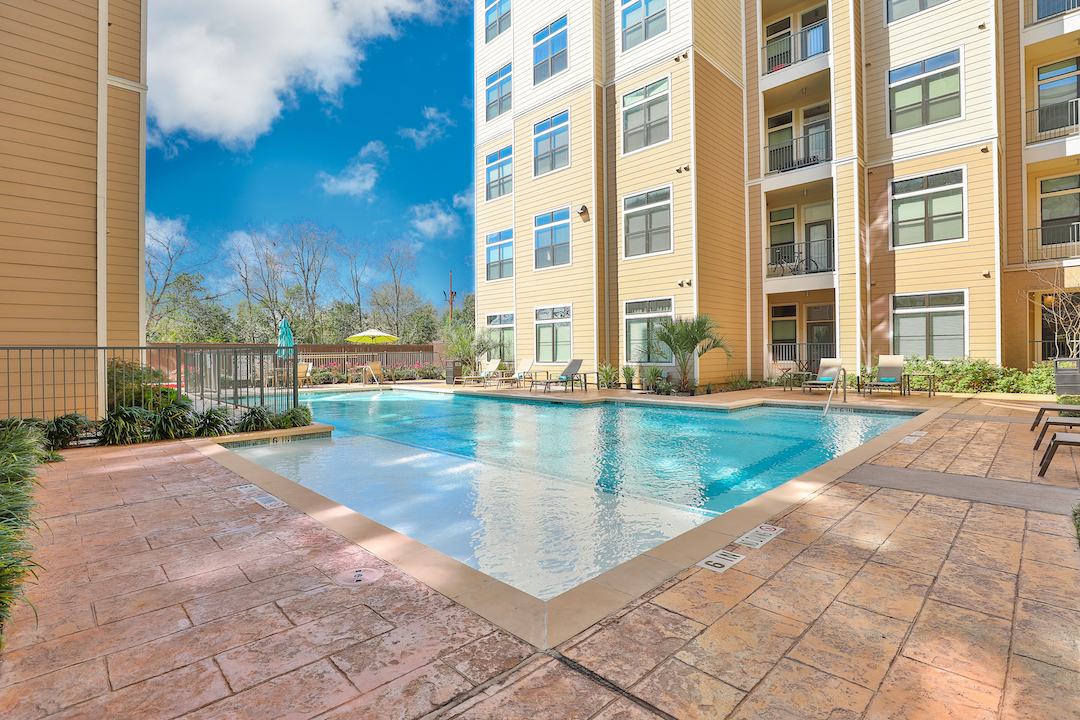 Resort-Inspired Swimming Pool At Haven at Main Apartments In Houston, TX