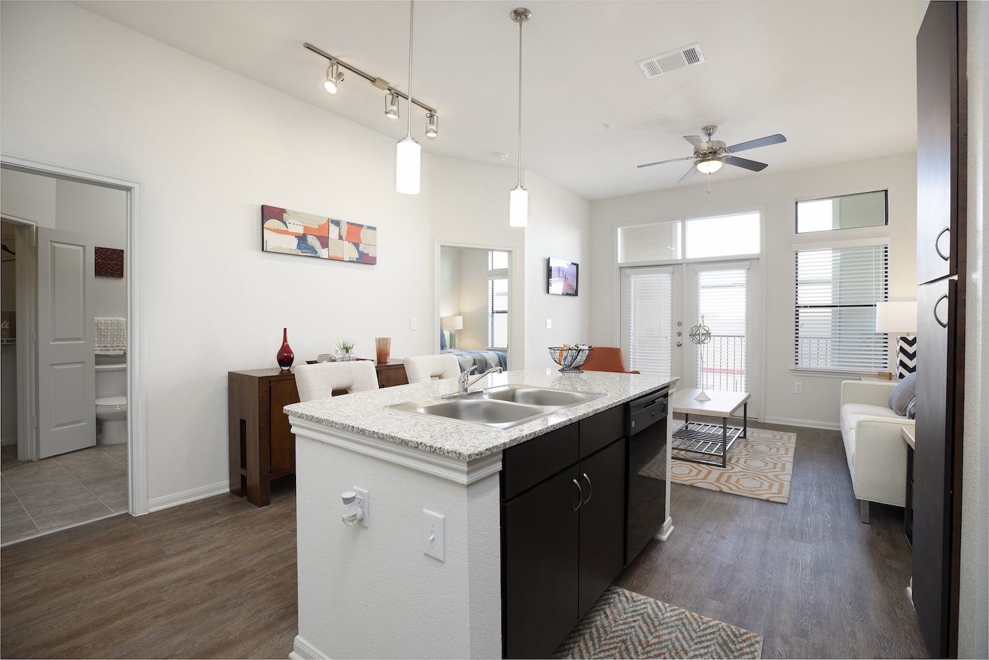 Kitchen Islands Available In Apartment Homes At Haven at Main Apartments In Houston, TX