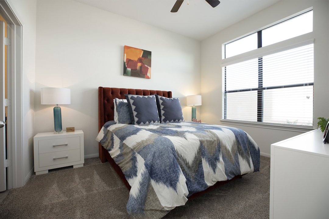 Large Windows In Bedrooms At Haven at Main Apartments In Houston, TX