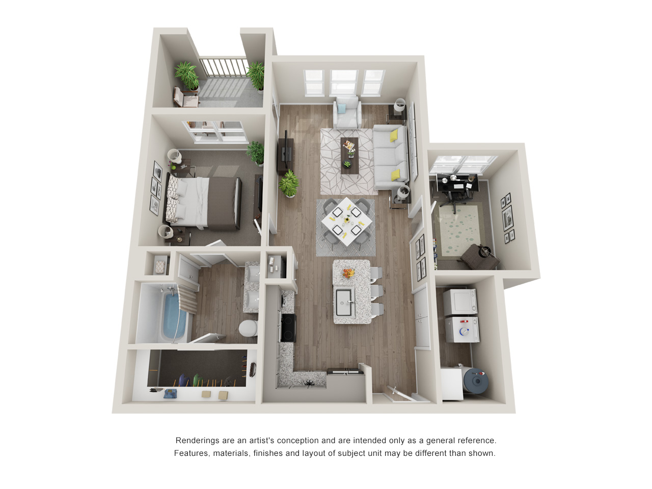 Haven at Bellaire - Floorplan - A4-Study