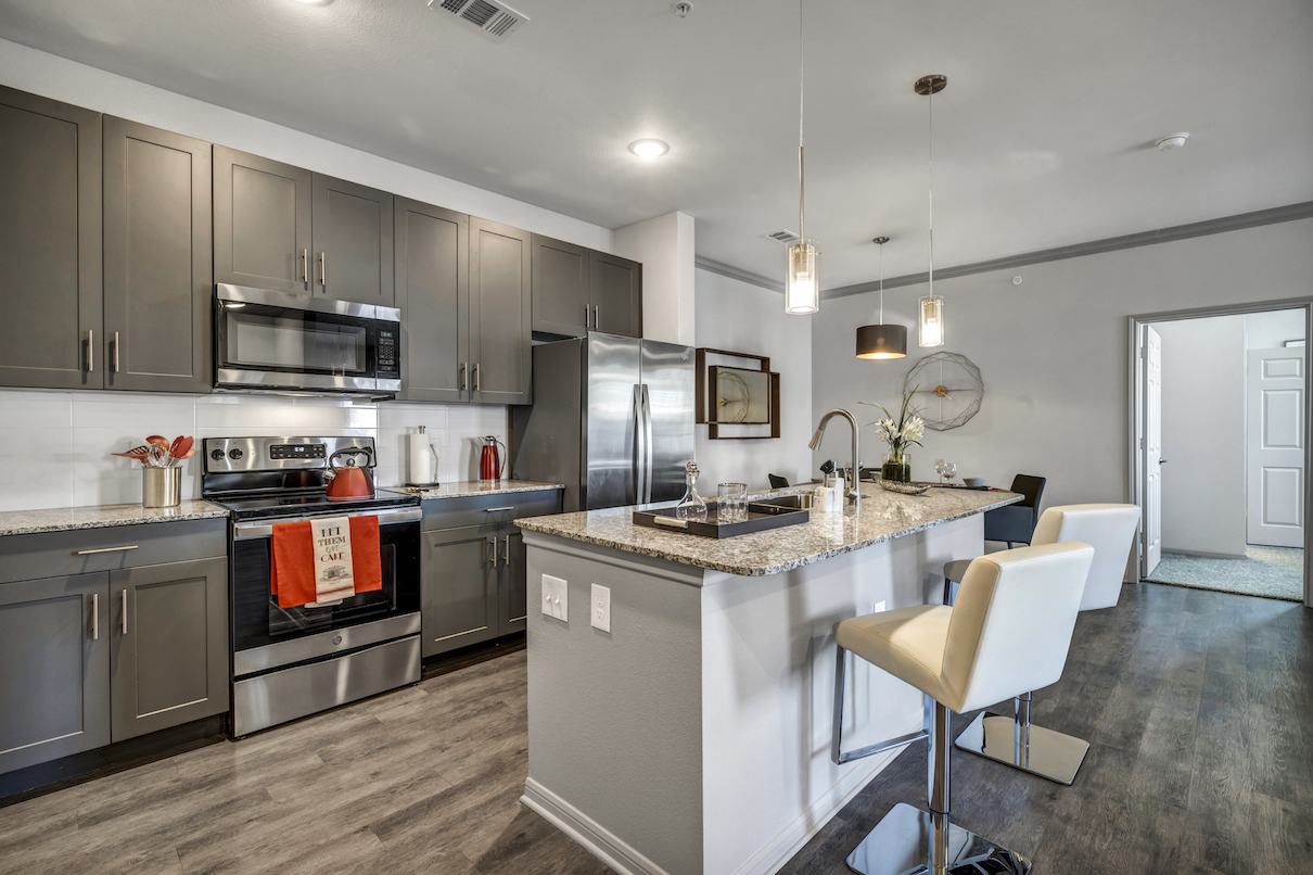 Kitchen View at Haven at Bellaire Apartments in Richmond, TX