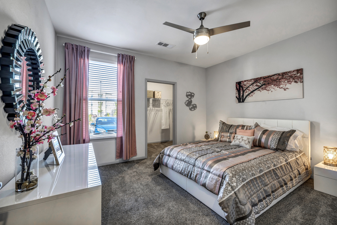 Bedroom at Haven at Bellaire Apartments in Richmond, TX