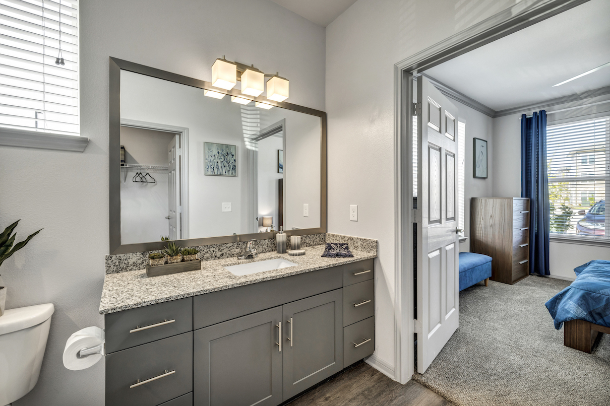 Bathroom at Haven at Bellaire Apartments in Richmond, TX