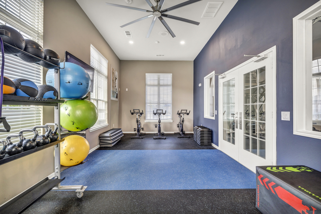 Yoga and Spin Room at Haven at Bellaire Apartments in Richmond, TX