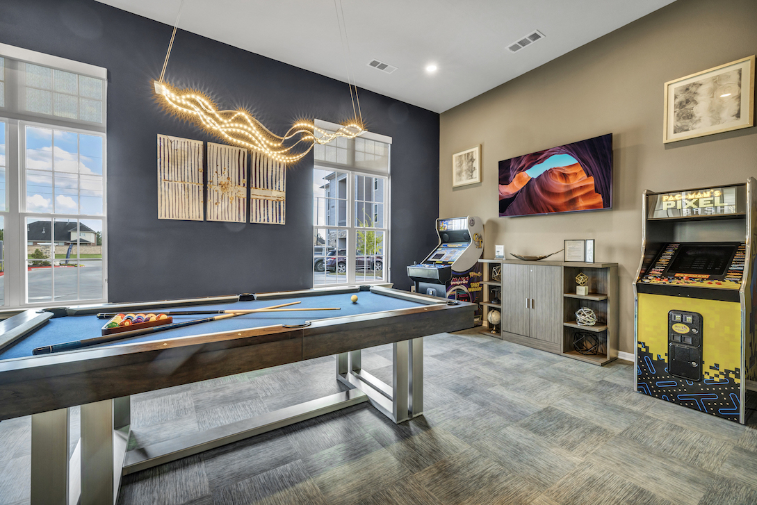 Game Room at Haven at Bellaire Apartments in Richmond, TX
