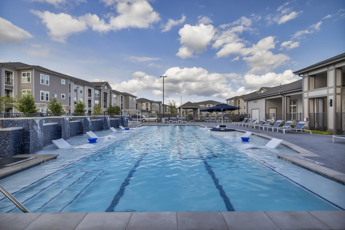 Salt Water Pool at Haven at Bellaire Apartments in Richmond, TX