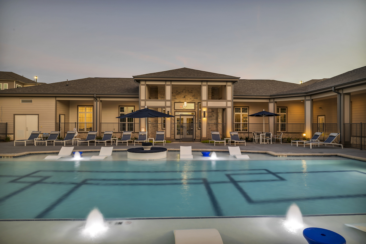 Resort Style Pool at Haven at Bellaire Apartments in Richmond, TX