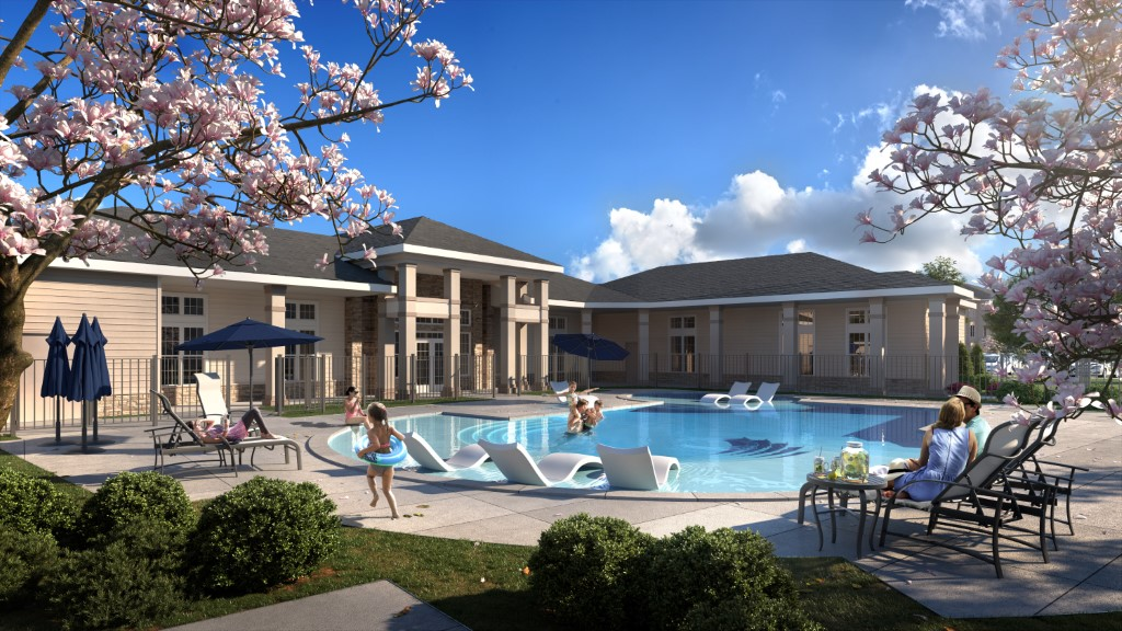 Resort-Style Pool At Haven At Bellaire Apartments In Richmond, TX