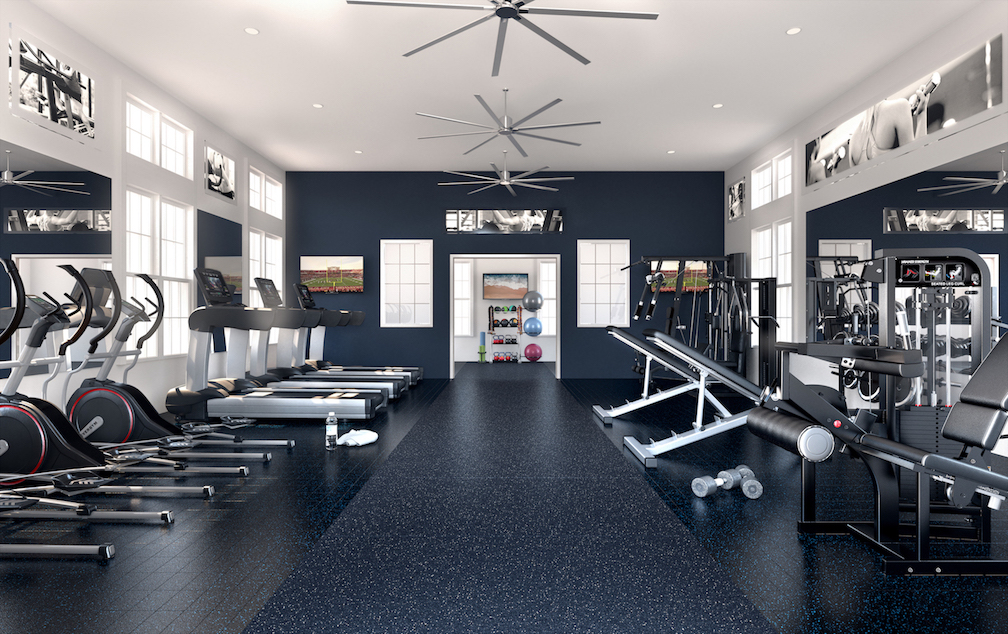 State-Of-The-Art Fitness Center At Haven At Bellaire Apartments In Richmond, TX