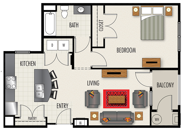 Heights at Lasalle Apartments - Floorplan - A2