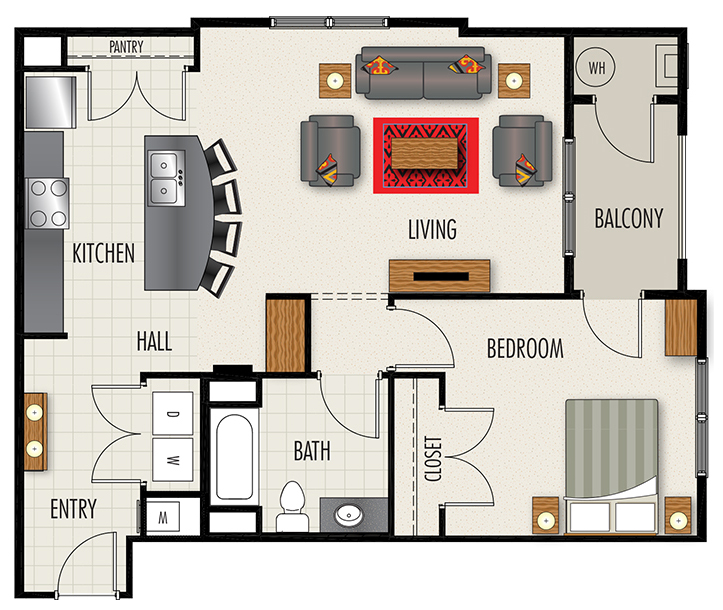 Heights at Lasalle Apartments - Floorplan - A4