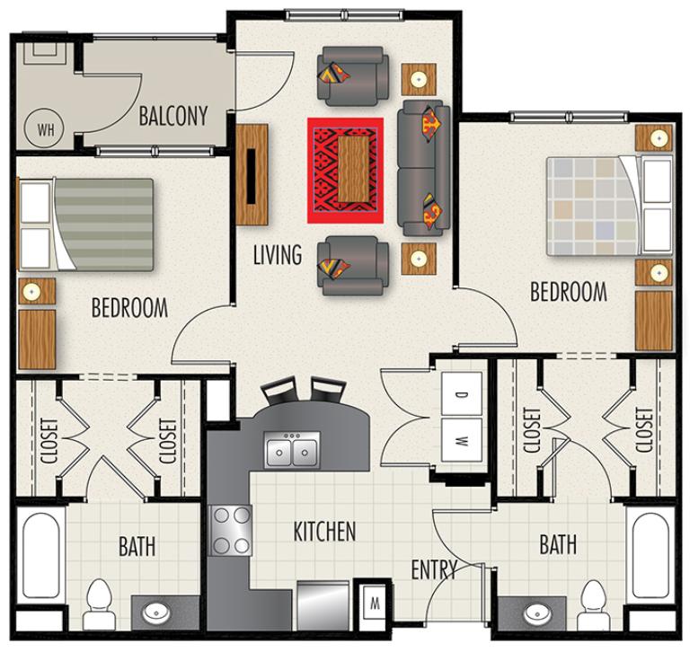 Floorplan - B1-A image