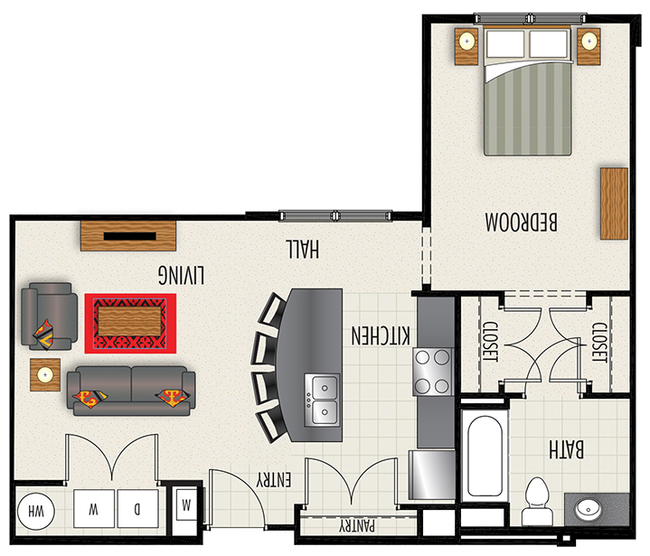 Heights at Lasalle Apartments - Floorplan - S1