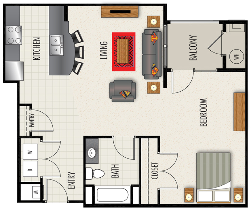 Heights at Lasalle Apartments - Floorplan - S3-HC