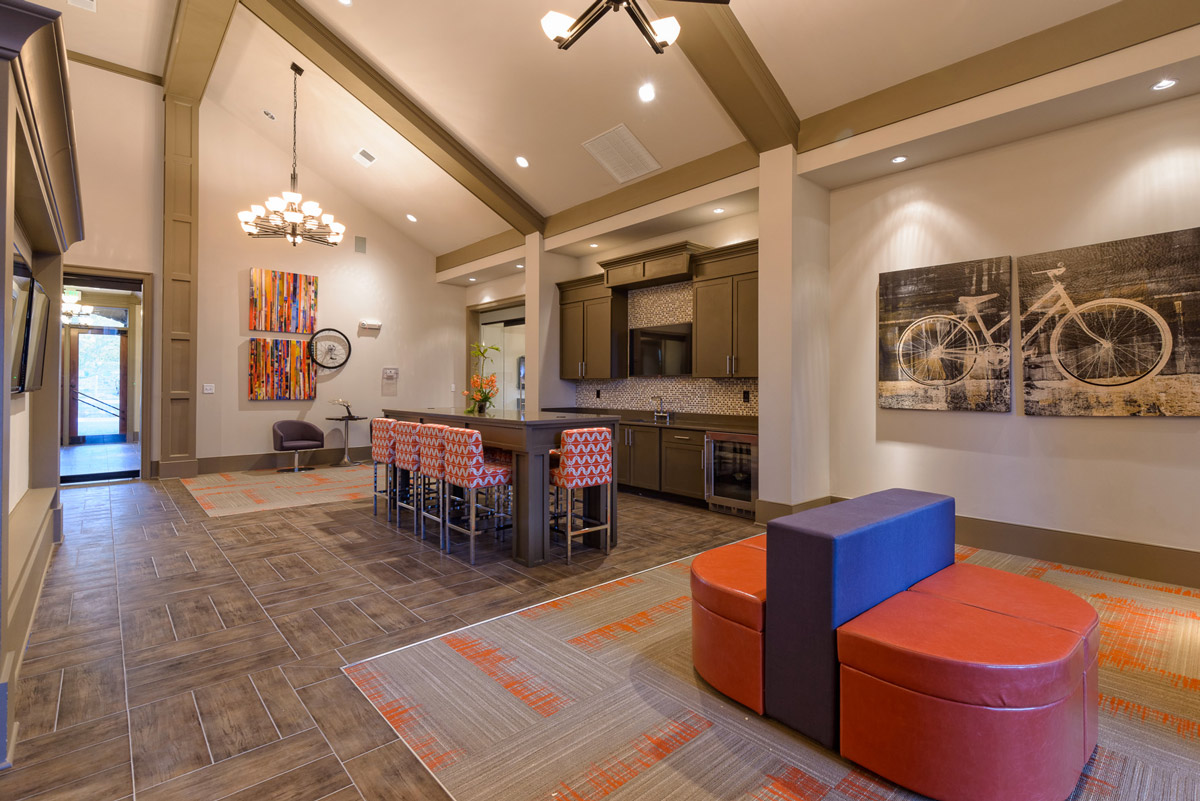 Clubroom at the Heights at Lasalle Apartments in Durham, NC