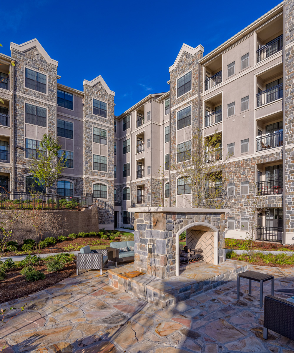 Exterior of the Heights at Lasalle Apartments in Durham, NC