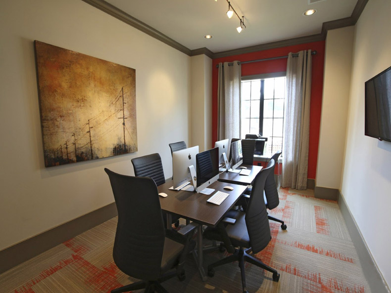 Business Center at the Heights at Lasalle Apartments in Durham, NC