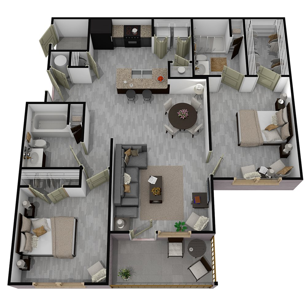 Henderson 1575 - Floorplan - The Brendan