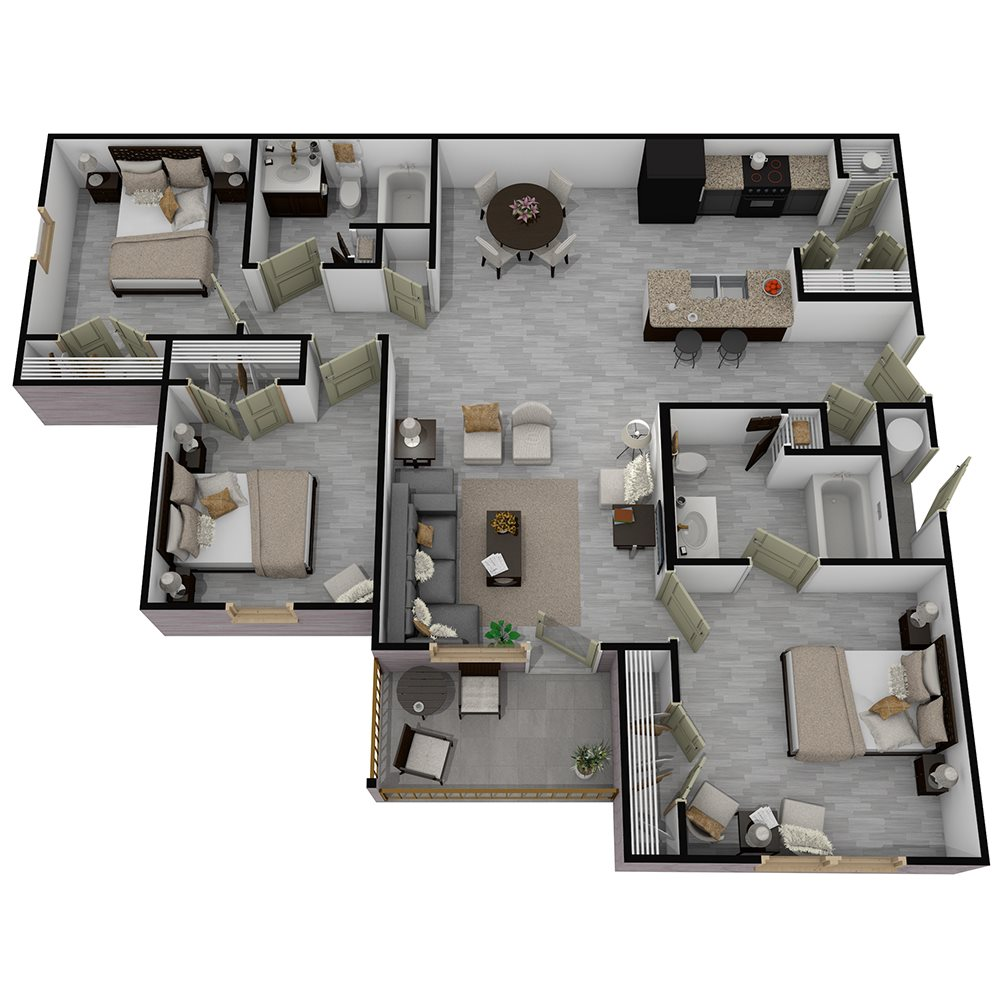 Henderson 1575 - Floorplan - The Camden