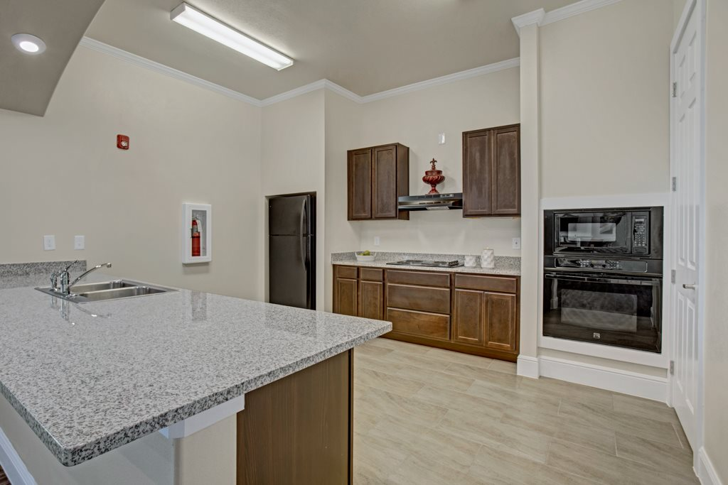 Wooden Cabinetry at Henderson 1575 Apartments in Los Fresnos, Texas