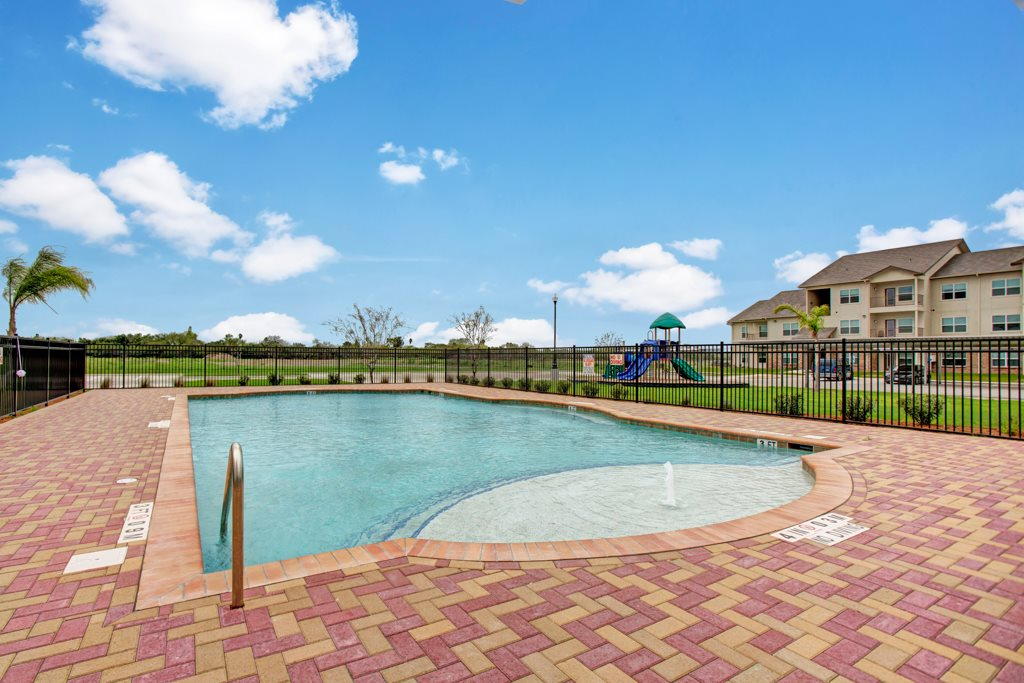 Resort-Style Pool at Henderson 1575 Apartments in Los Fresnos, Texas