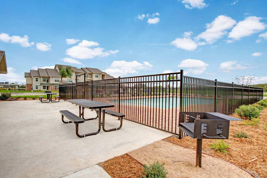 Outdoor Grilling Area at Henderson 1575 Apartments in Los Fresnos, Texas