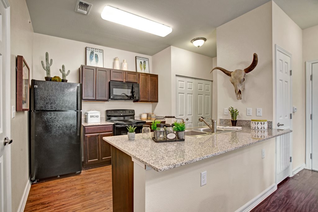 Fully Equipped Kitchen at Henderson 1575 Apartments in Los Fresnos, Texas