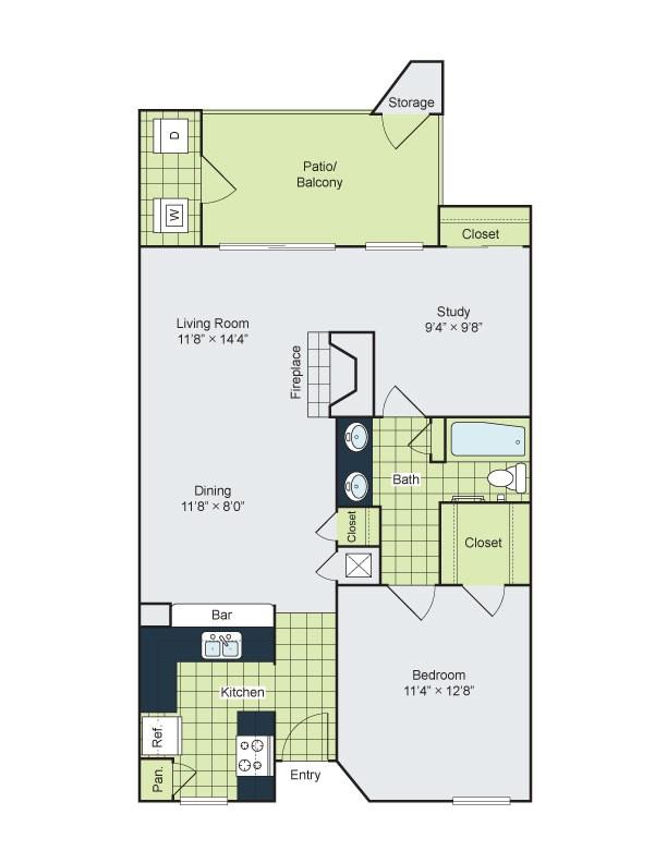 The Henry B Apartments - Floorplan - B1
