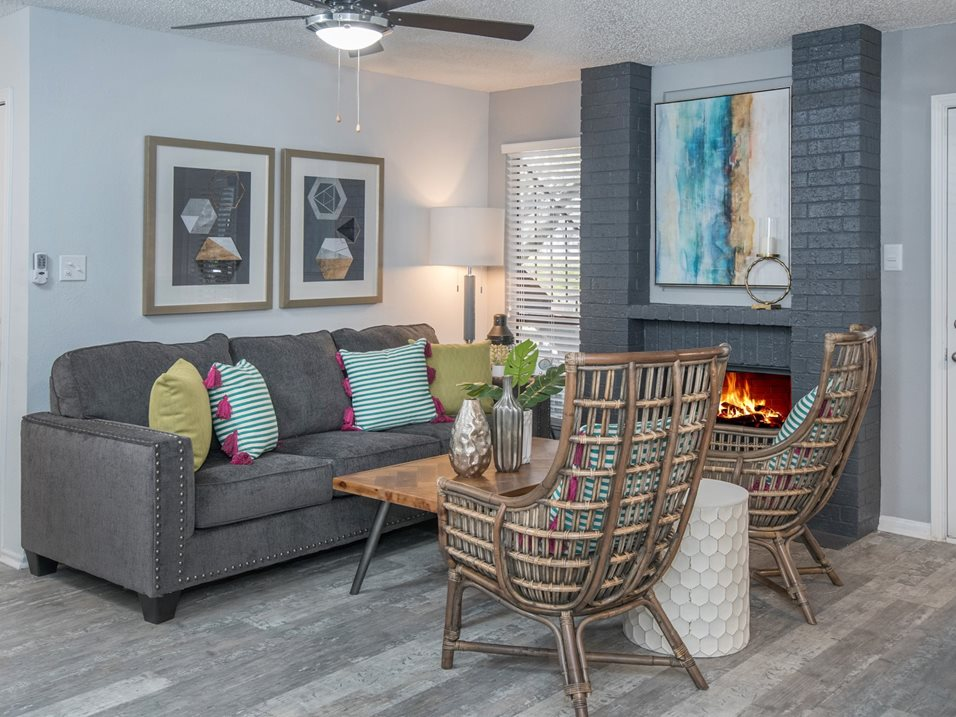 Fireplaces in Select Units at The Henry B Apartments in San Antonio, TX