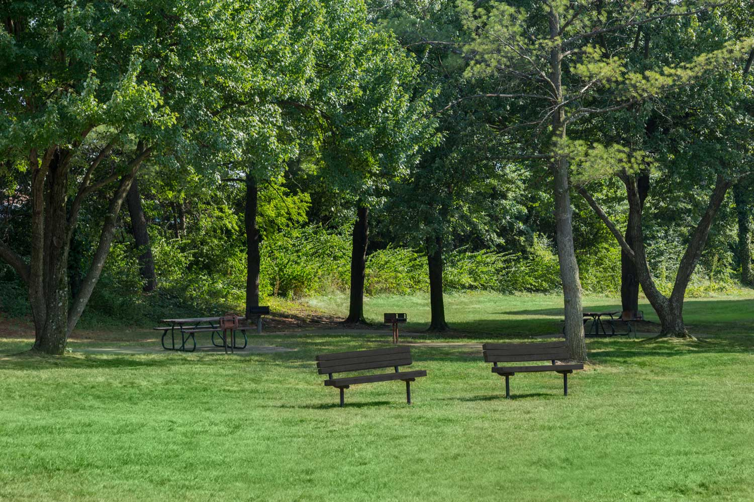 Onsite picnic area at Heritage Square Apartments in New Carrollton, MD