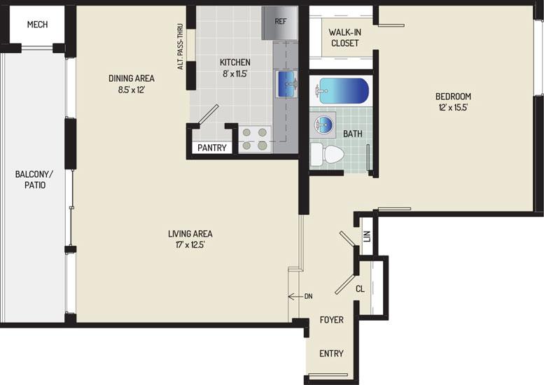 Heritage Square Apartments - Apartment 337847-302-C1