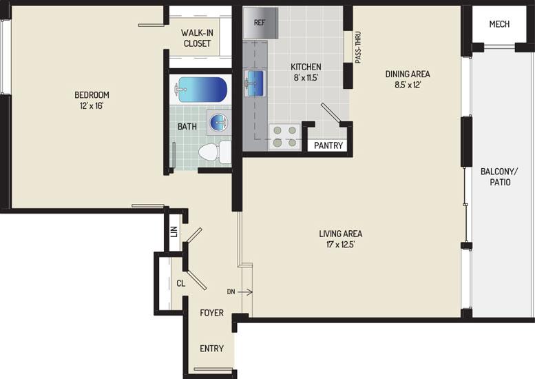 Heritage Square Apartments - Apartment 337863-103-C2