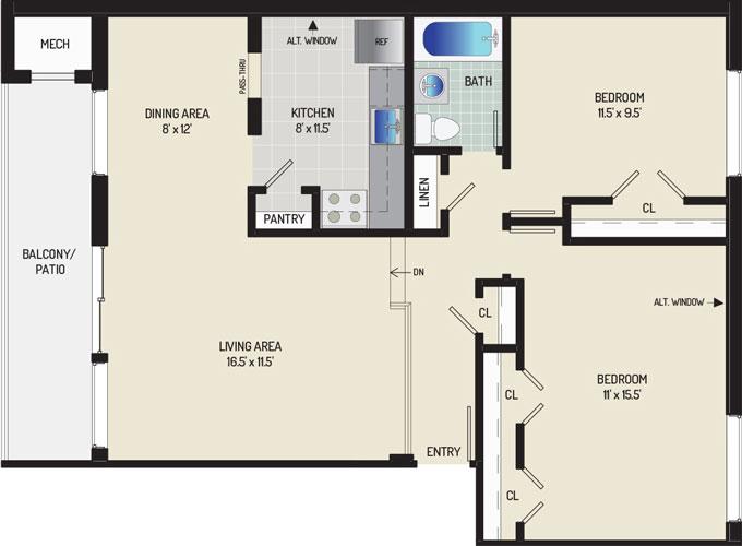 Heritage Square Apartments - Apartment 337867-0T2-F1
