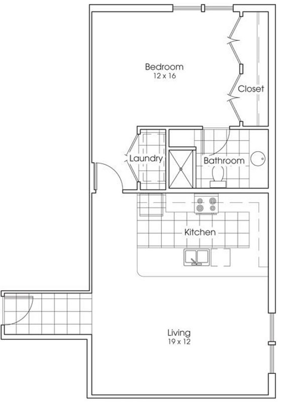 Heritage Village Apartments - Floorplan - Alamo