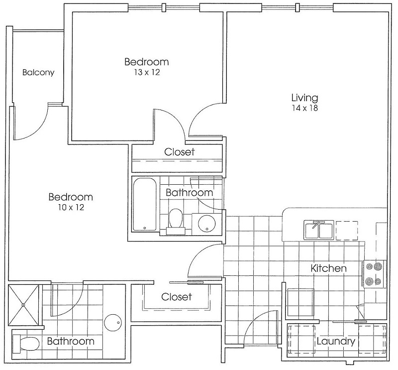 Heritage Village Apartments - Floorplan - Armadillo
