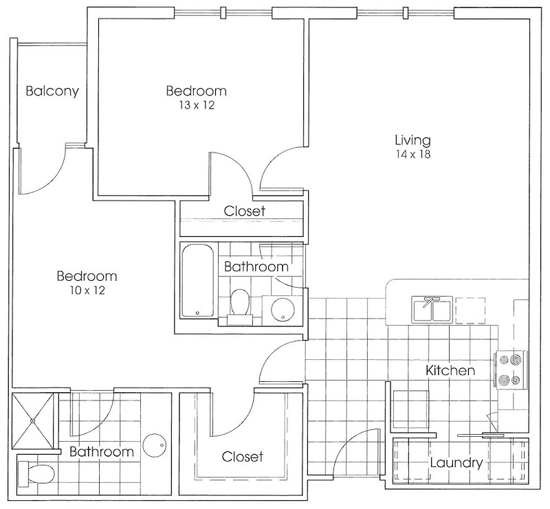 Heritage Village Apartments - FloorPlan - Cowboy