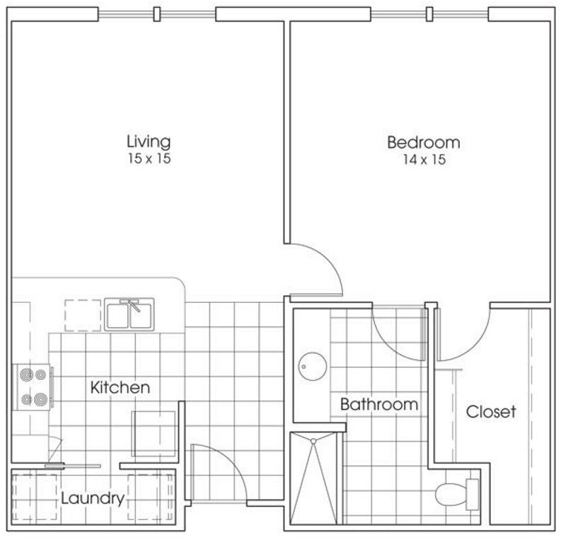 Heritage Village Apartments - Floorplan - Lone Star