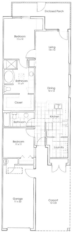 Heritage Village Apartments - Floorplan - Ranger Cottage