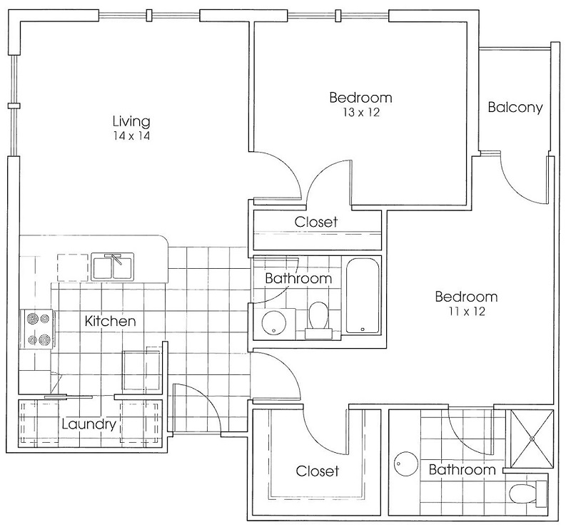 Heritage Village Residences 55+ Community - Floorplan - Sam Houston