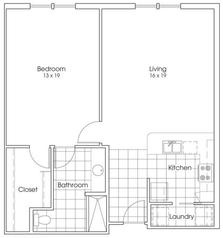 Heritage Village Apartments - Floorplan - Yellow Rose