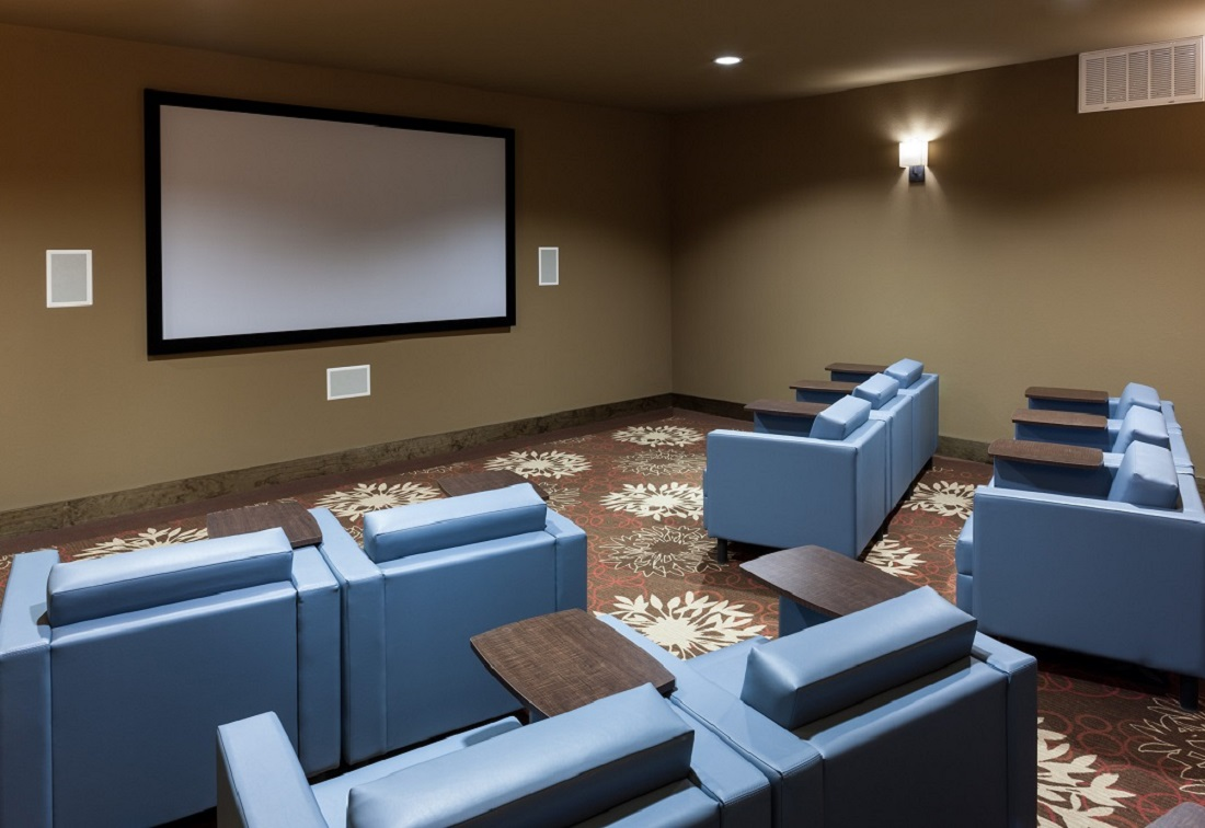 Movie Theater at The Heritage Village Apartments in Hurst , TX