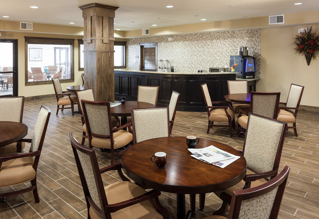 Clubroom at The Heritage Village Apartments in Hurst , TX
