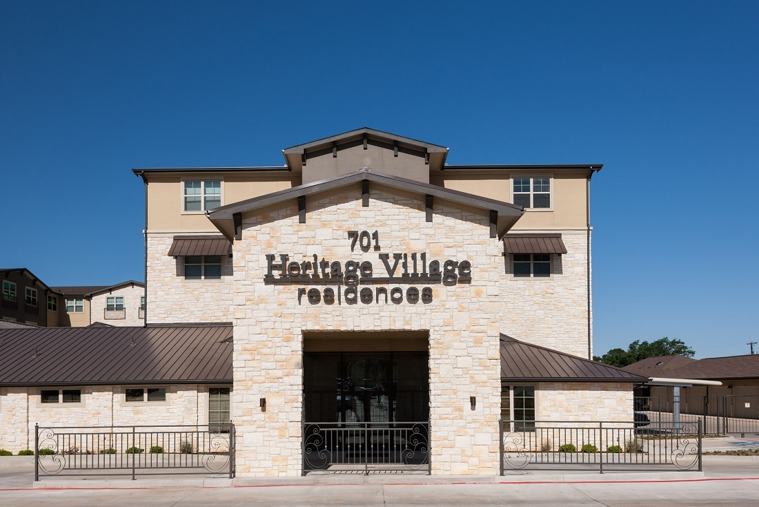 Front View at The Heritage Village Apartments in Hurst , TX