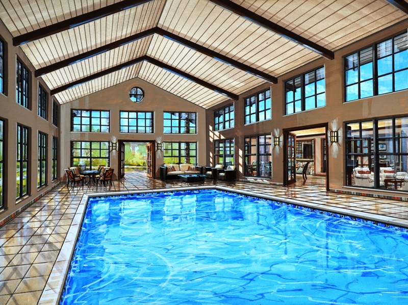 Sparkling Pool at The Heritage Village Apartments in Hurst , TX
