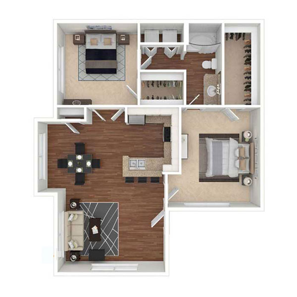 Hidden Lakes - Floorplan - B1