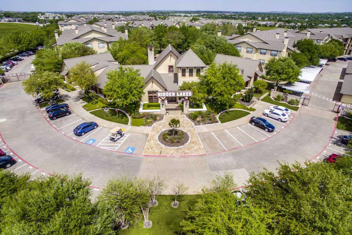 Parking Lot at Hidden Lakes Apartments in Haltom City, Texas