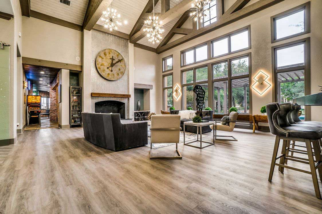 Resident Clubhouse with HDTVs at Hidden Lakes Apartments in Haltom City, Texas