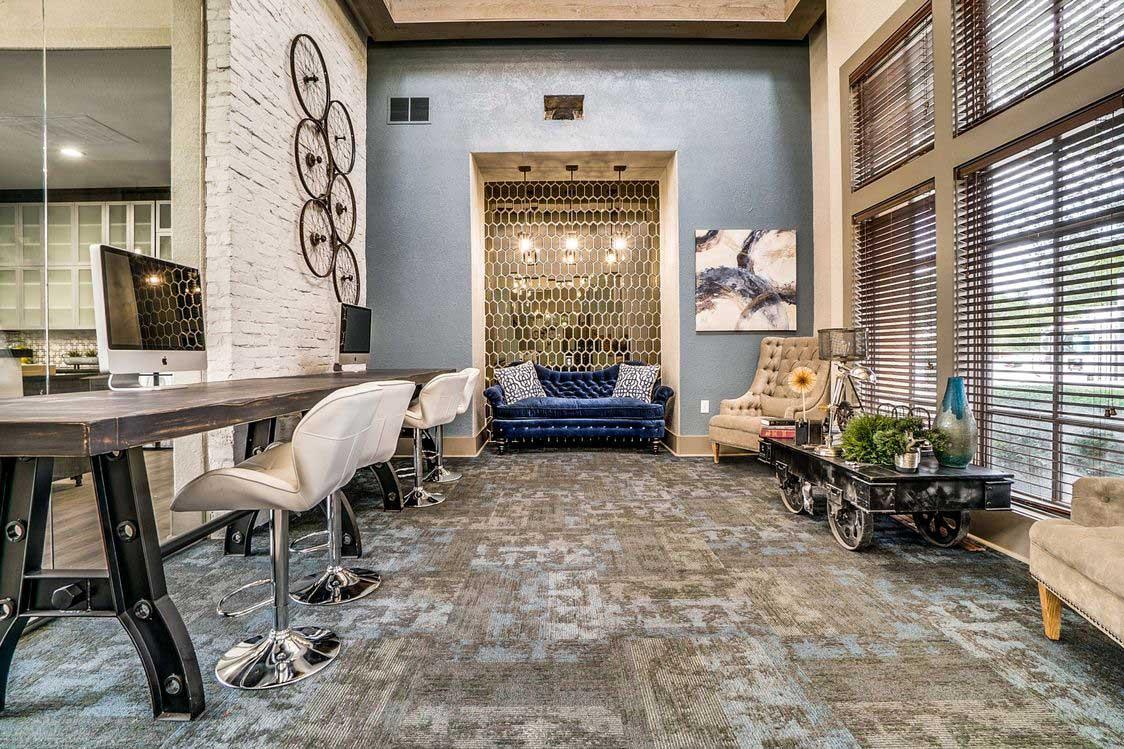 Executive Business Center at Hidden Lakes Apartments in Haltom City, Texas