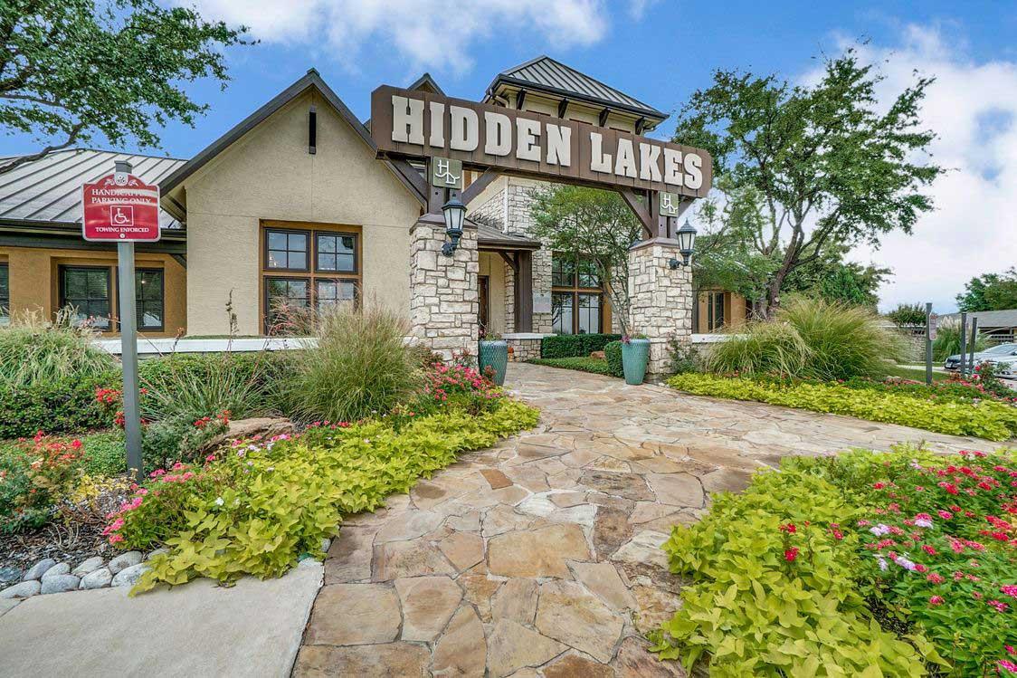 Leasing Center at Hidden Lakes Apartments in Haltom City, Texas